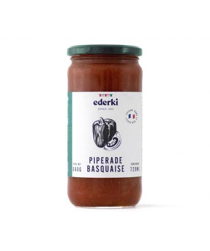 Image du pot de 660 grammes de piperade basquaise bio  Ederki