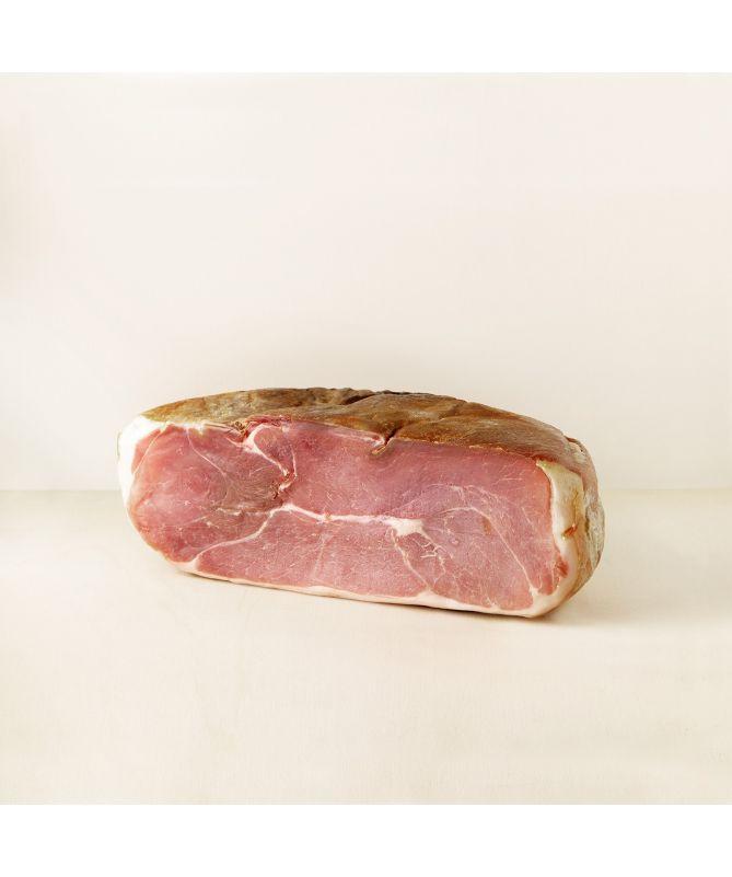 Image du demi jambon de Bayonne I.G.P désossé 12 mois d'affinage Maison Montauzer
