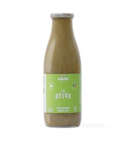 Image de la bouteille de 75 centilitres de soupe de légumes verts bio Ederki