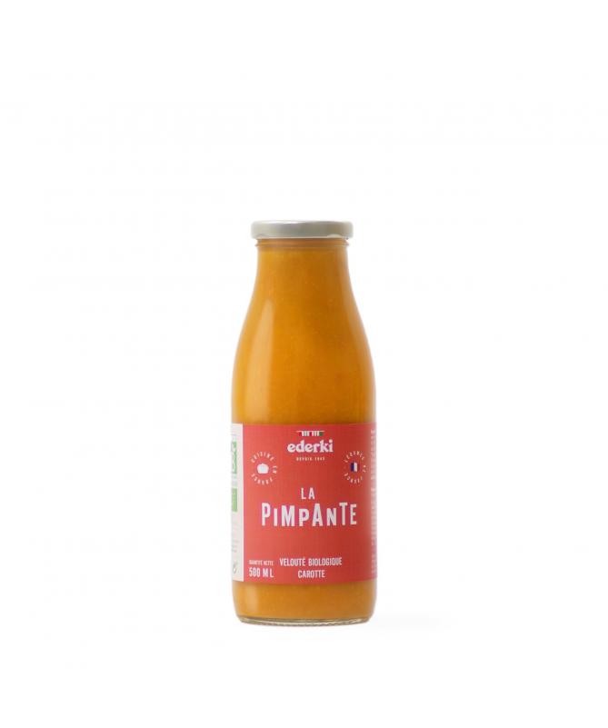 Image de la bouteille de 50 centilitres de velouté bio aux carottes Ederki