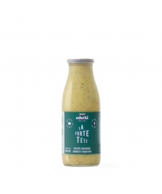 Image de la bouteille de 75 centilitres de soupe bio courgette roquefort Ederki