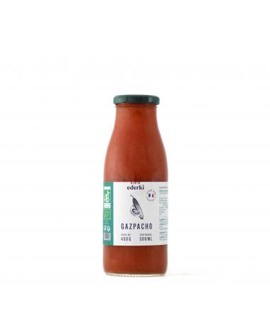 Image de la bouteille de 50 centilitres de gazpacho bio Ederki