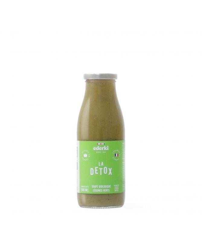 Image de la bouteille de 50 centilitres de soupe au légumes verts bio Ederki