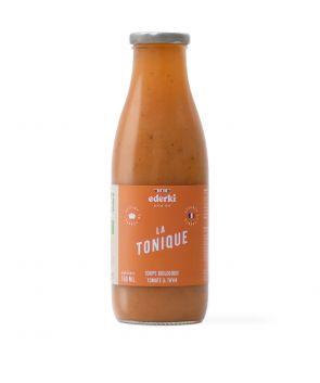 Maison Ederki. Soupe bio tomate thym La Tonique. 75 centilitres. Gammes biologique.