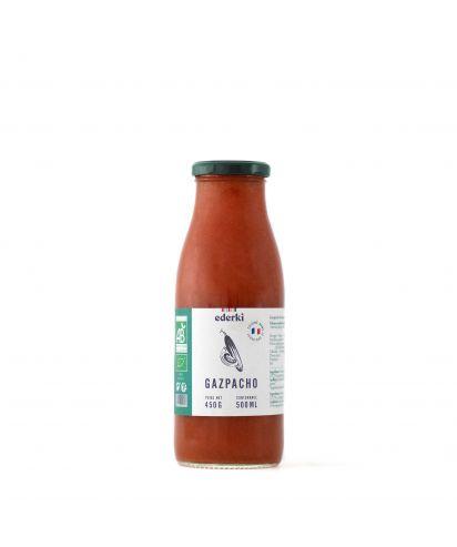 Maison Ederki. Gazpacho bio 50 centilitres. Gamme biologique.