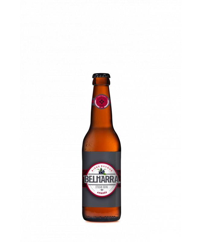 Image de la bouteille de 33 centilitres de bière belharra ambrée Egizaki