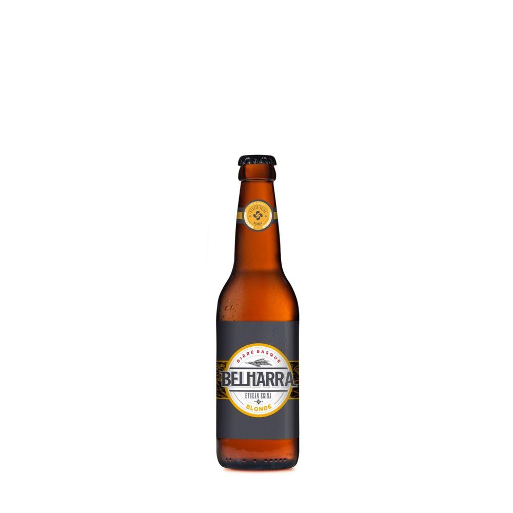 Maison Ederki. Bière Belharra blonde