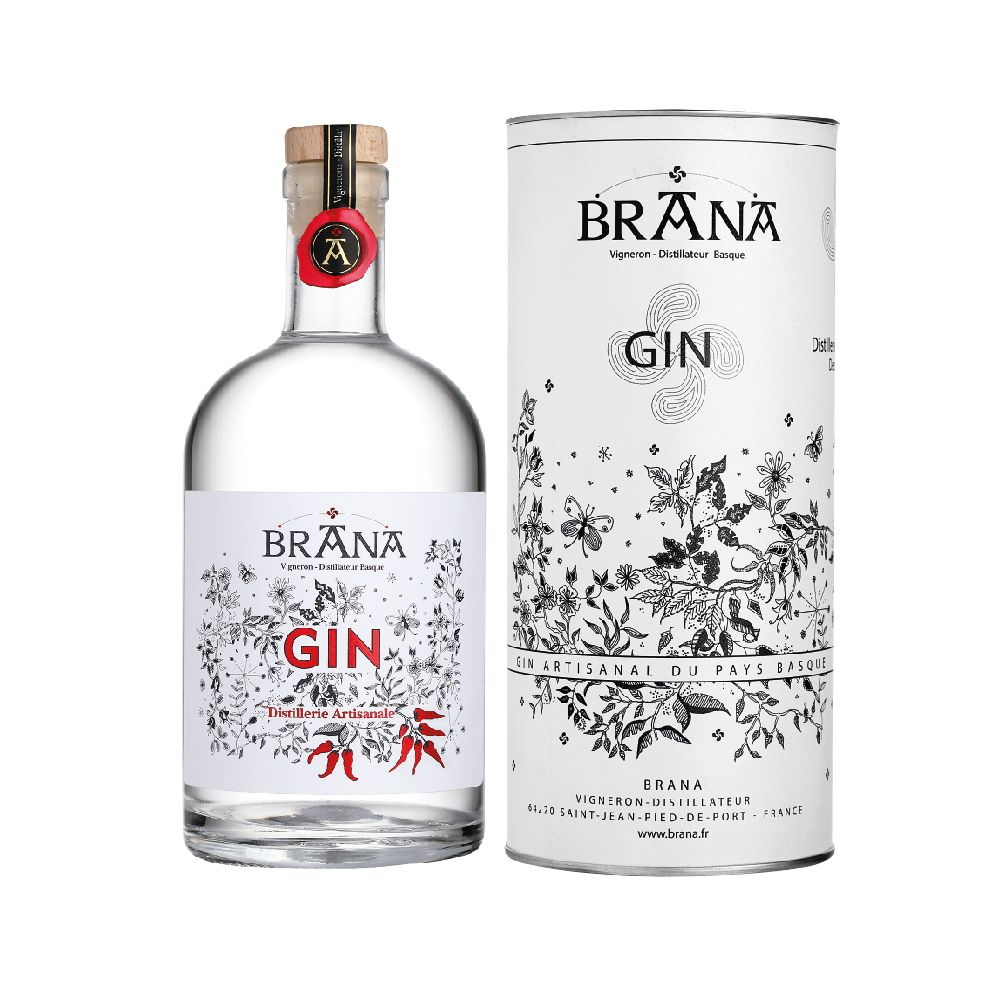 Gin au Piment d'Espelette Domaine Brana 50cl | Maison Ederki