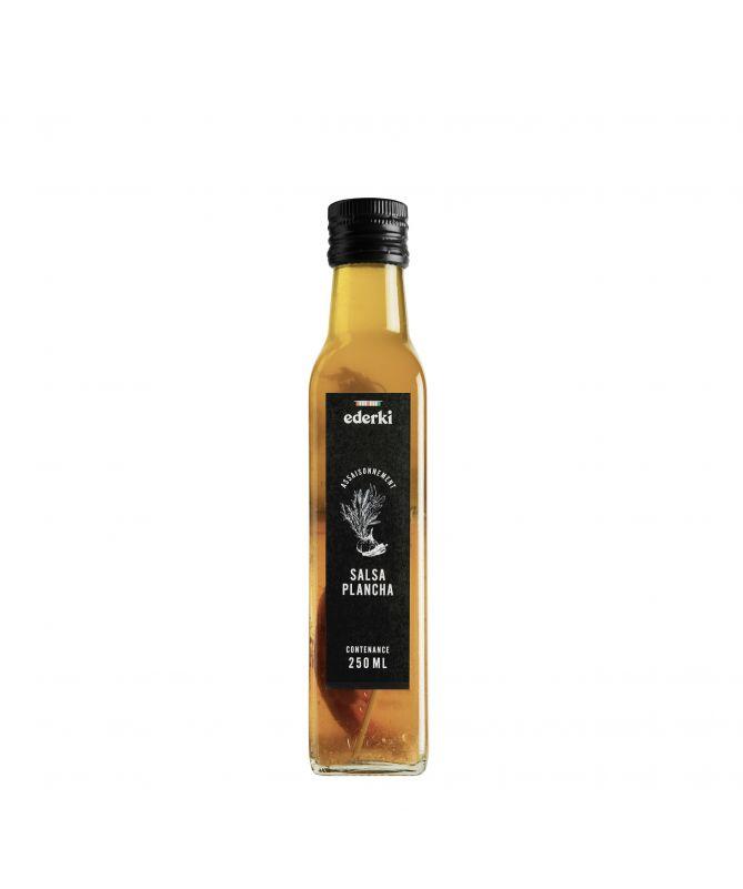 Image de la bouteille de 25 centilitres d'assaisonnement salsa plancha Ederki